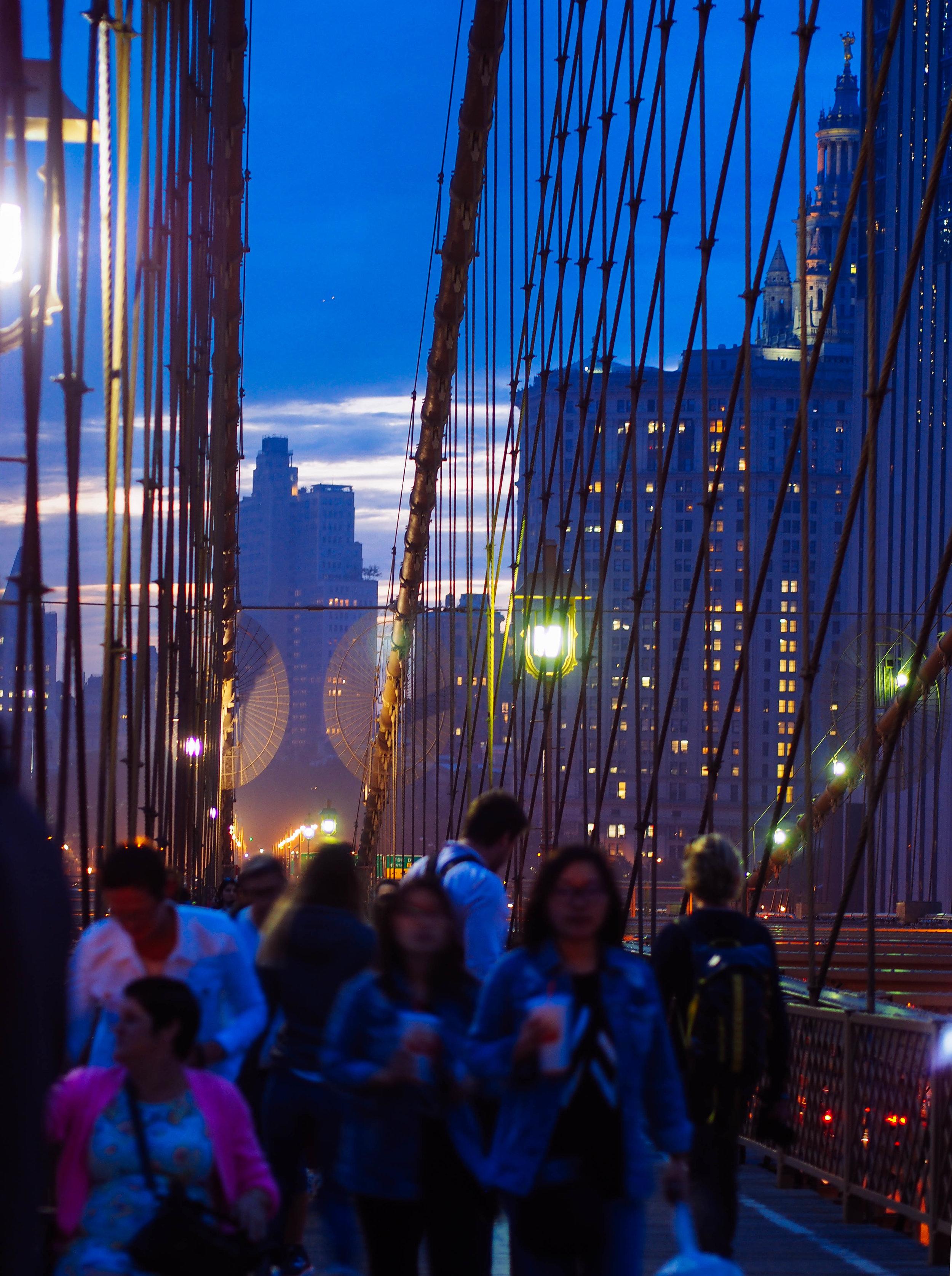 Golden Hour // Brooklyn Bridge -- 1/10 sec. f/1.8