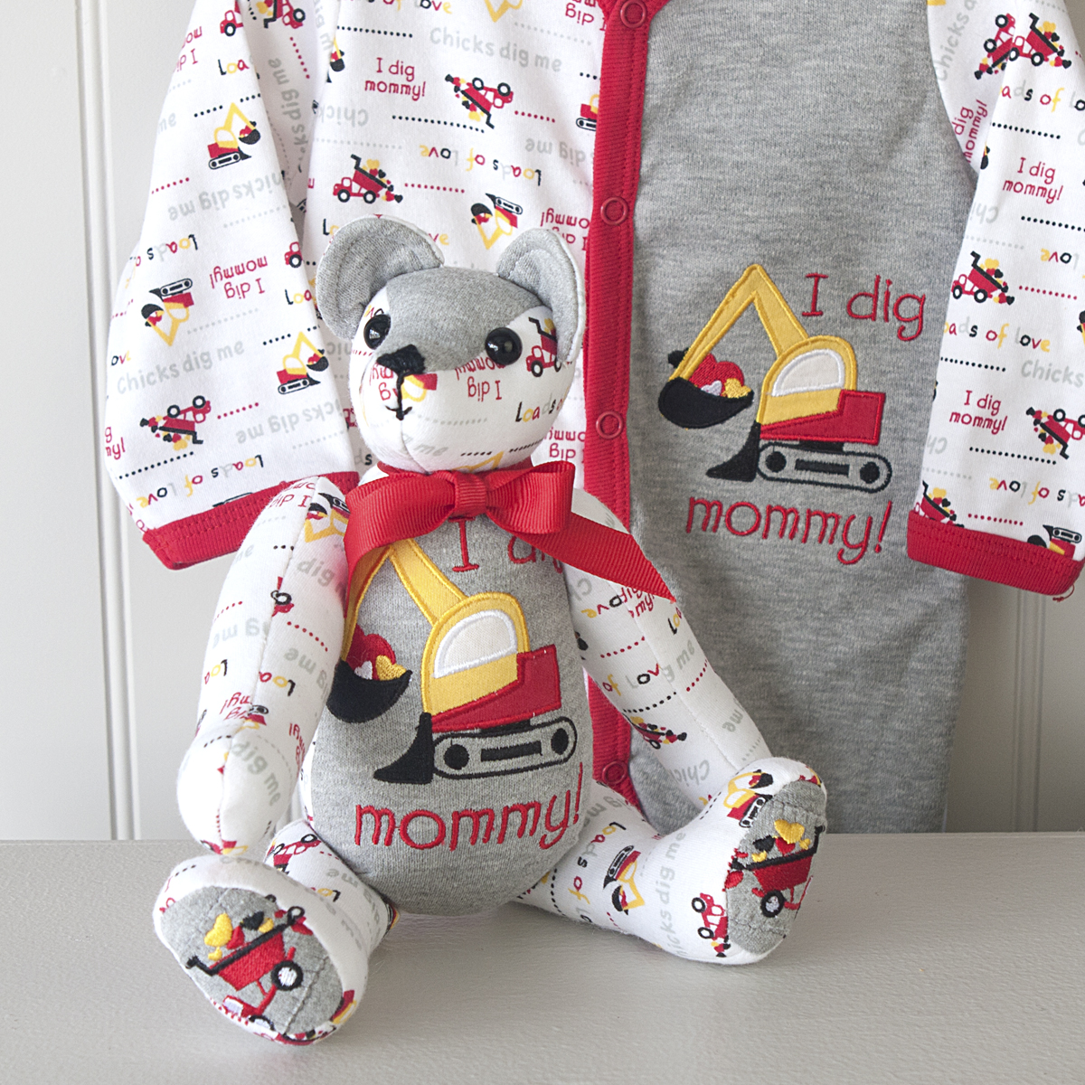 In this two day class you will be making a jointed Teddy Bear from a keepsake sleeper a special baby wore, or from a new sleeper for a new baby! Linda P will teach you how to construct this adorable teddy from a baby sleeper, sized 3-6 months. Size is important, if it's too small, you won't have enough fabric, if it's too big the decoration won't fit the bear. You bring the sleeper, your sewing machine and thread and we'll have all the other necessary supplies.
