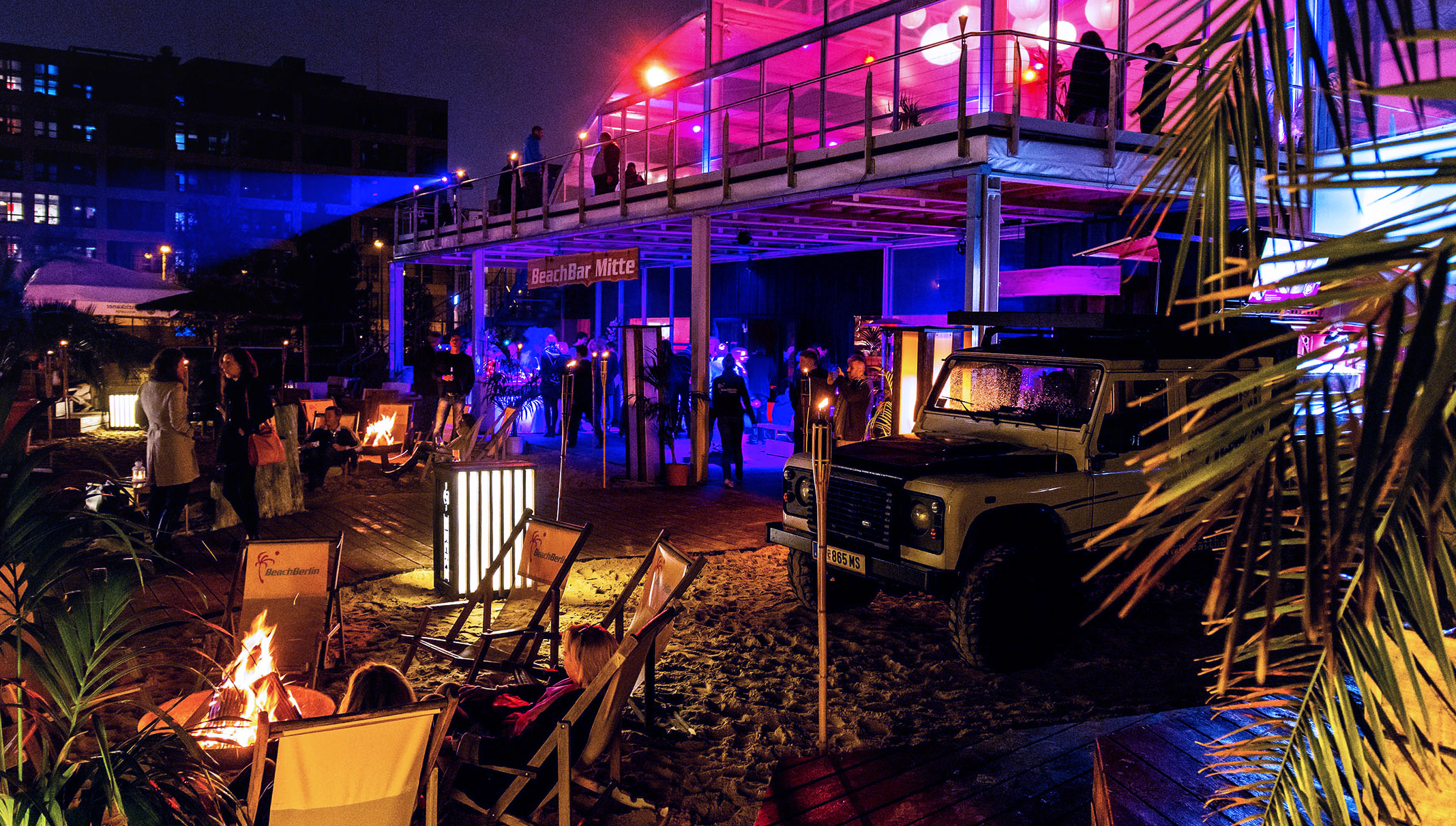 Die Eventlocation BeachMitte in Berlin.
