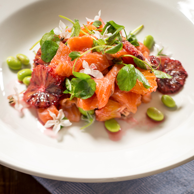 <h3>SMOKED TROUT SALAD<h3>
