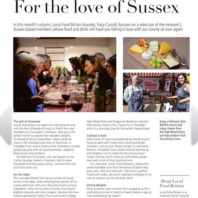 A rundown of some thoroughly Valentine's worthy goodies from Sussex producers in this month's loved up edition of @etcmagazine_south ...including #charliestrout 🥰  www.charliestrout.co.uk  @localfoodbritain #foodie #gifts #foodonline #smokedtrout #delicious #valentinesgift #lovedup
