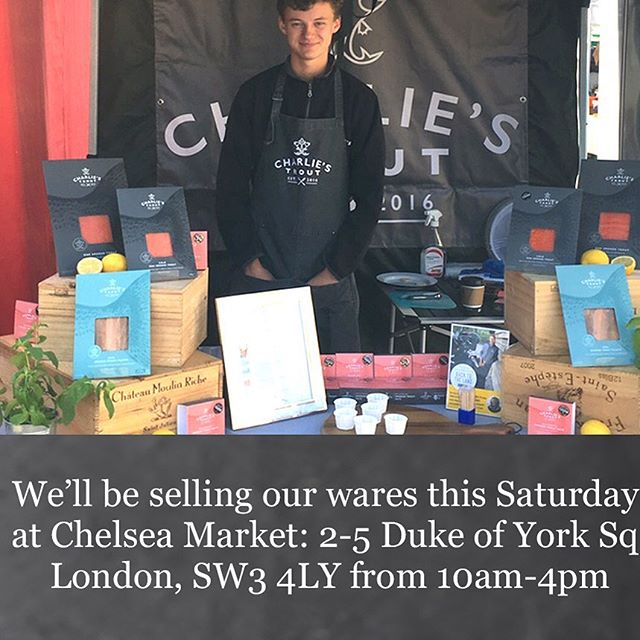 🙌🏻We're looking forward to the weekend because we'll be in Chelsea at the @shepherdsmkts market, just outside @partridgesfoods @doysq with lots of lovely Charlie's Trout, alongside plenty of other fabulous producers... 👉🏻See you there!  #londoncalling #fresh #farmersmarket #ingredients #chelsea #local #foodie #foodblogger #local #pitch #wares #smokedtrout #troutandabout #daytrip