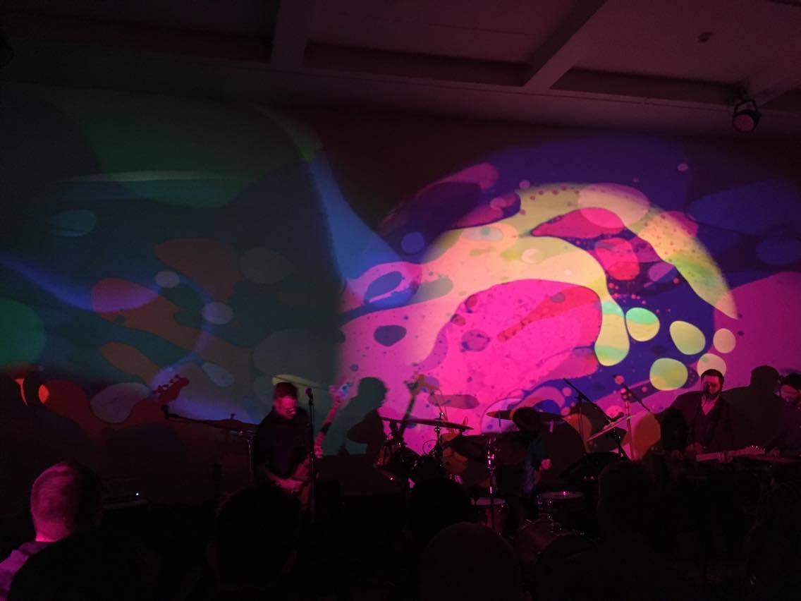 Band backdrop - liquid wheel