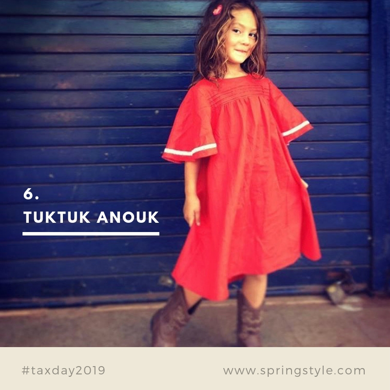 6. Tuktuk Anouk. Khadi bohemian dresses for coastal Christmas celebrations.