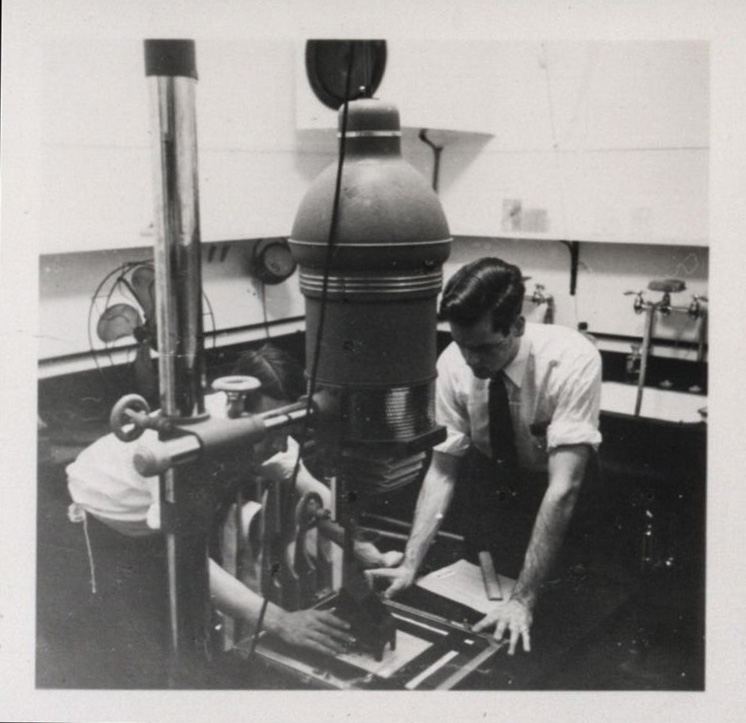Printing Darkroom at Hamilton. 1947.