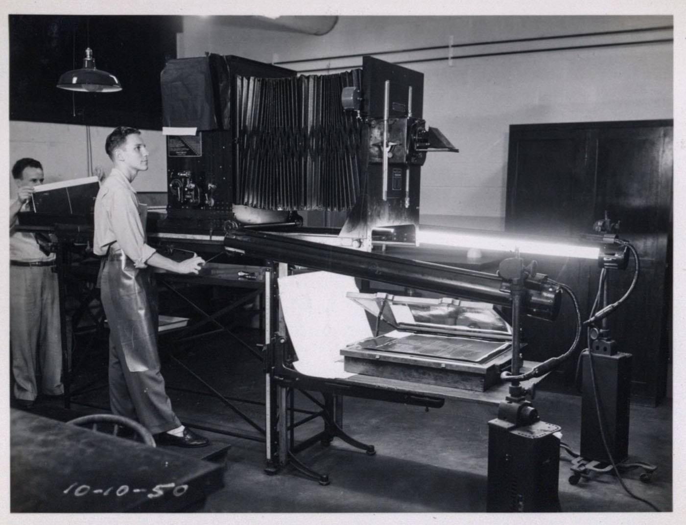 Photocopy lab at Hamilton. 1950.
