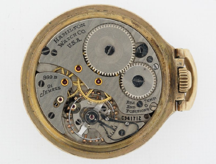 Movement of 1950 Hamilton Grade 922B Railway Special. From the    collections of the National Watch and Clock Museum   . Photograph, 2018.