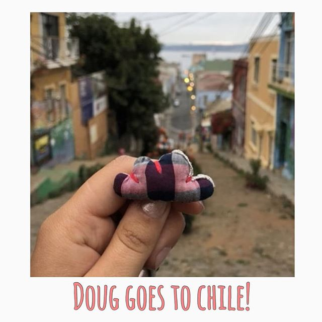 Doug goes to Valparaiso, Chile. Thank you @miss_nissa19 for the picture and for always carrying your Doug along.  To know more about the story and buy Doug go to www.onceuponadoug.com