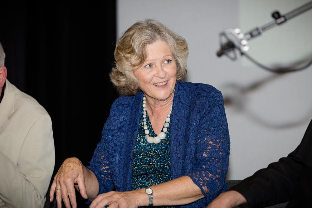 Festival host, Baroness Hollins