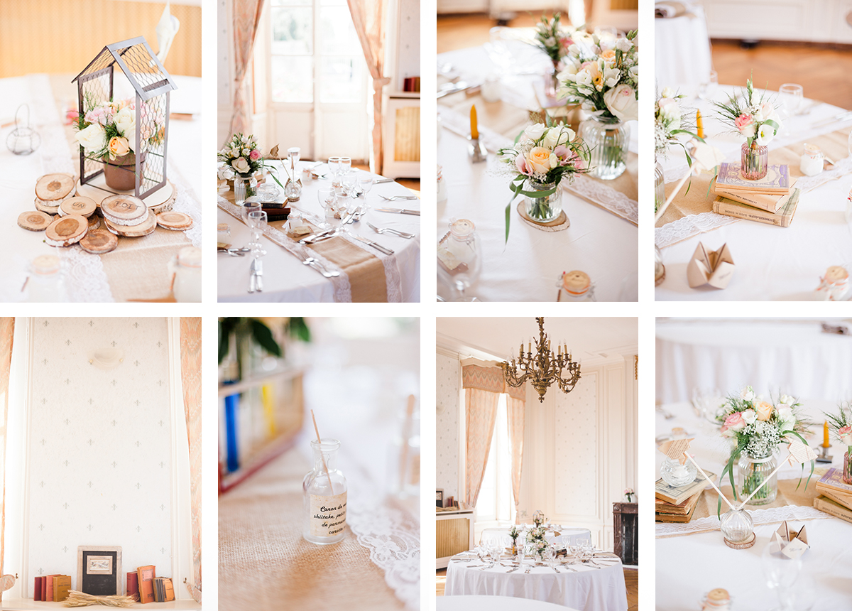 decoration de table mariage chic