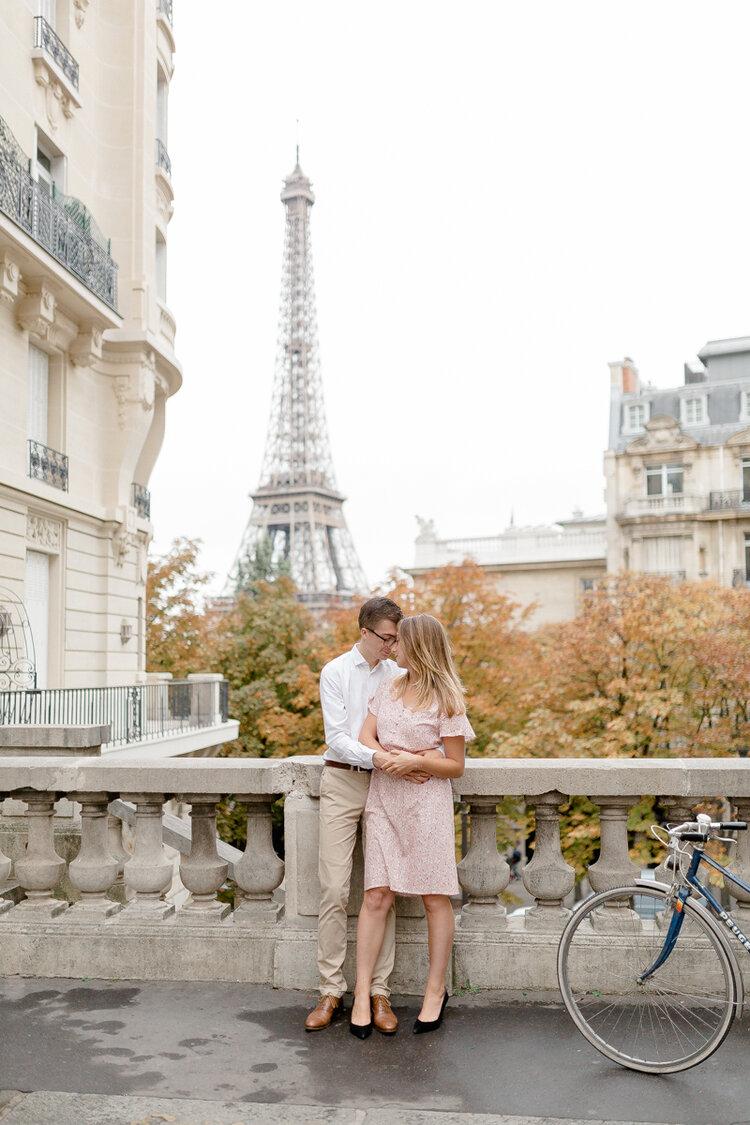 engagement Paris photo