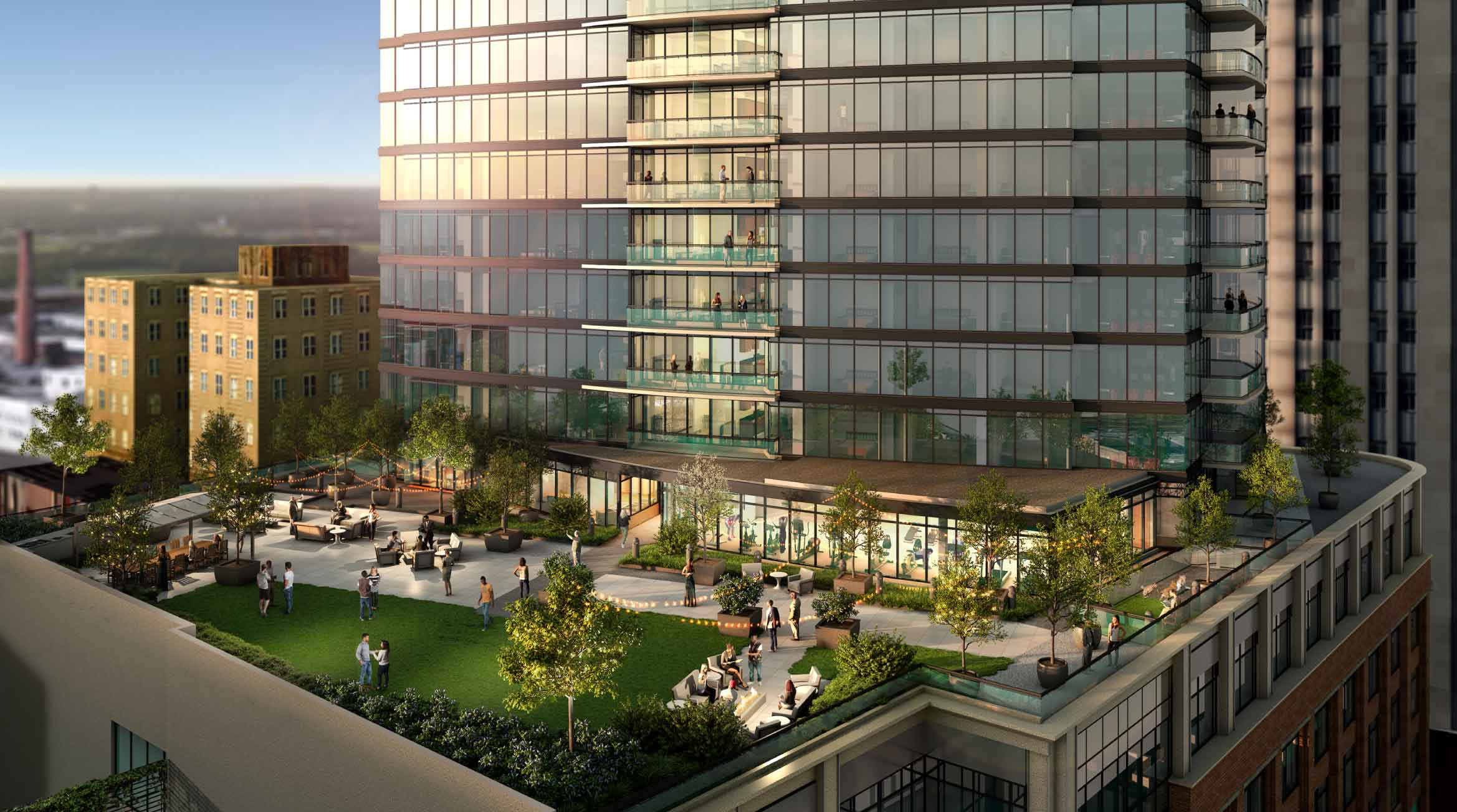 One City Center Rooftop Amenities