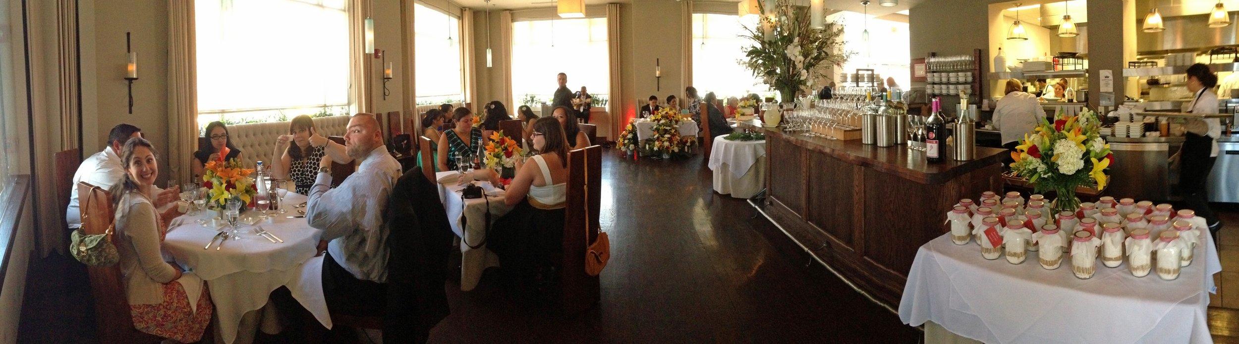 Wedding reception on the big side.