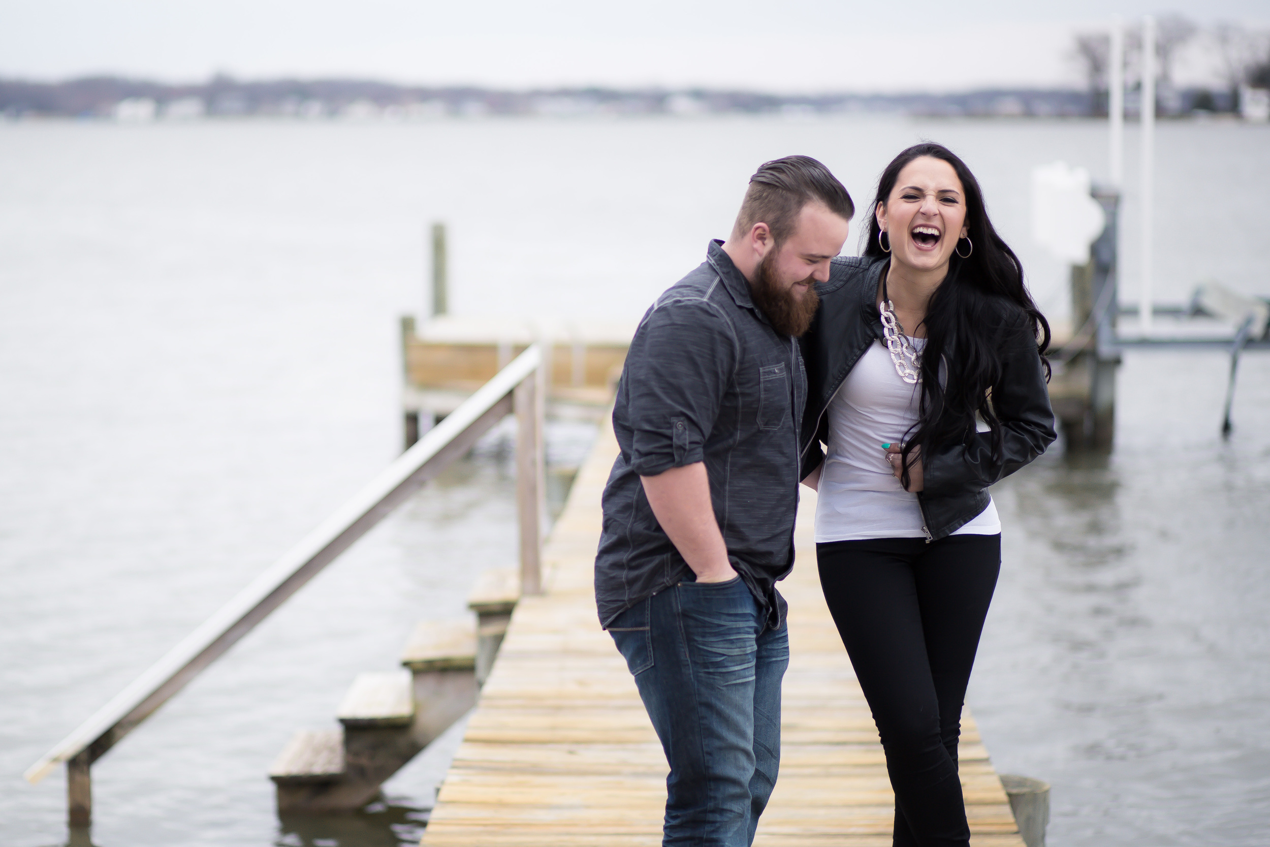 Bowleys Quarter Maryland Engagement Photoshoot on the water