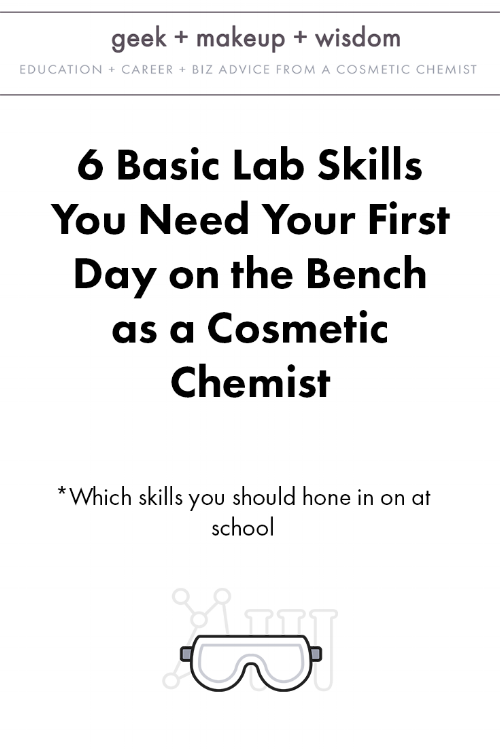 basic lab skills cosmetic chemist