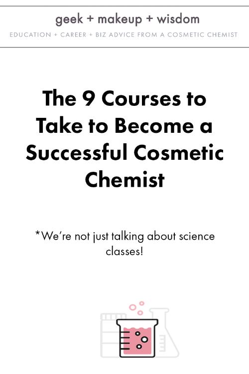 courses successful cosmetic chemist