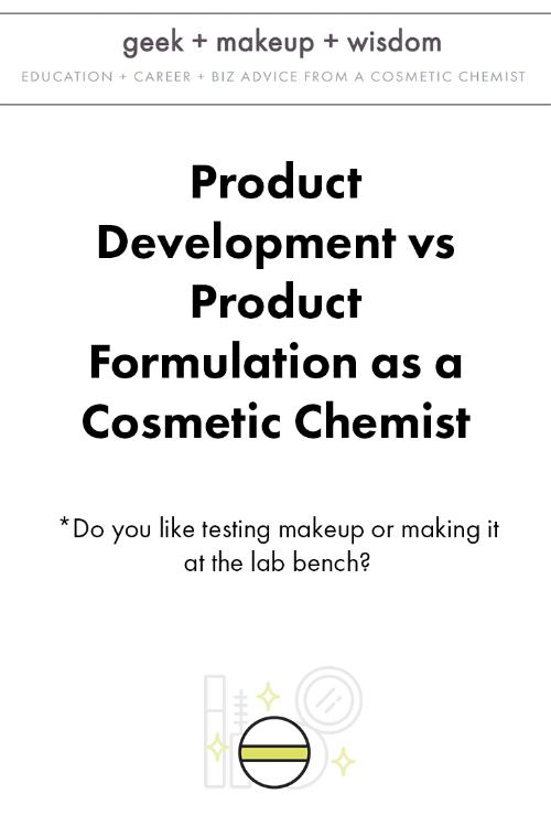 product development vs product formulation