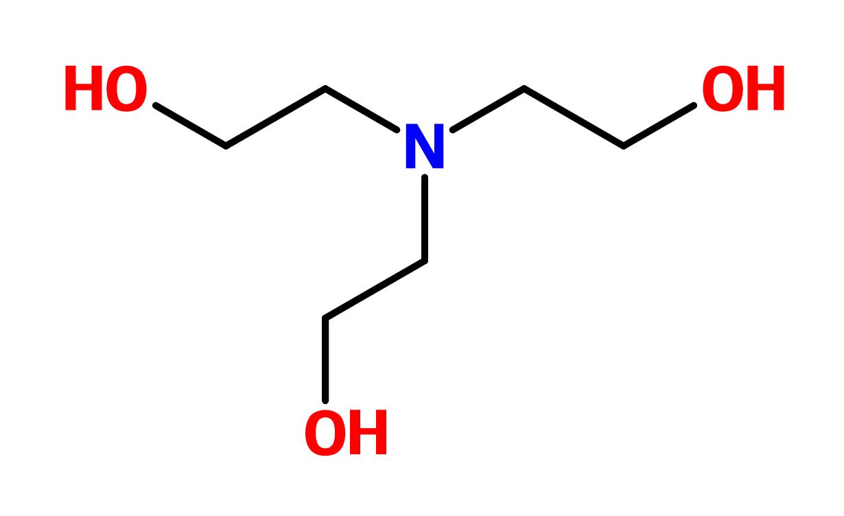 Figure 12. Triethanolamine (TEA)