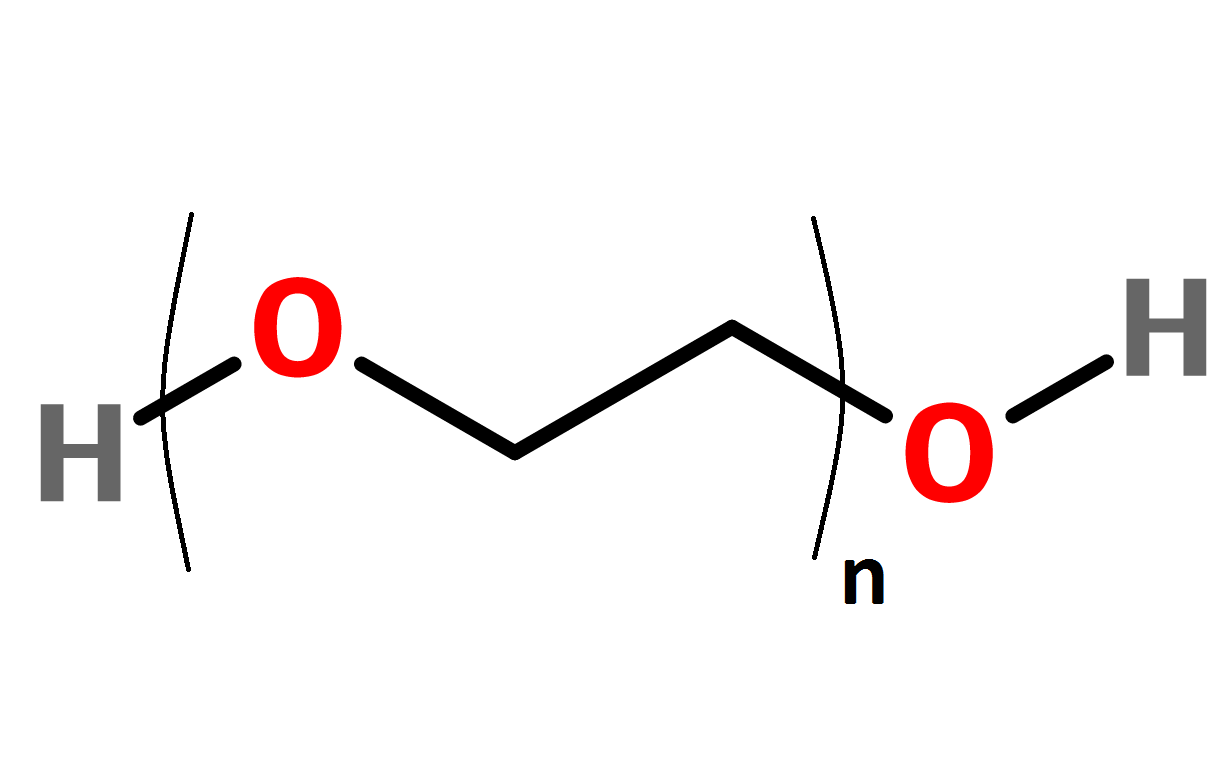 Figure 1. General structure of polyethylene glycol, where n = number of ethylene oxide units