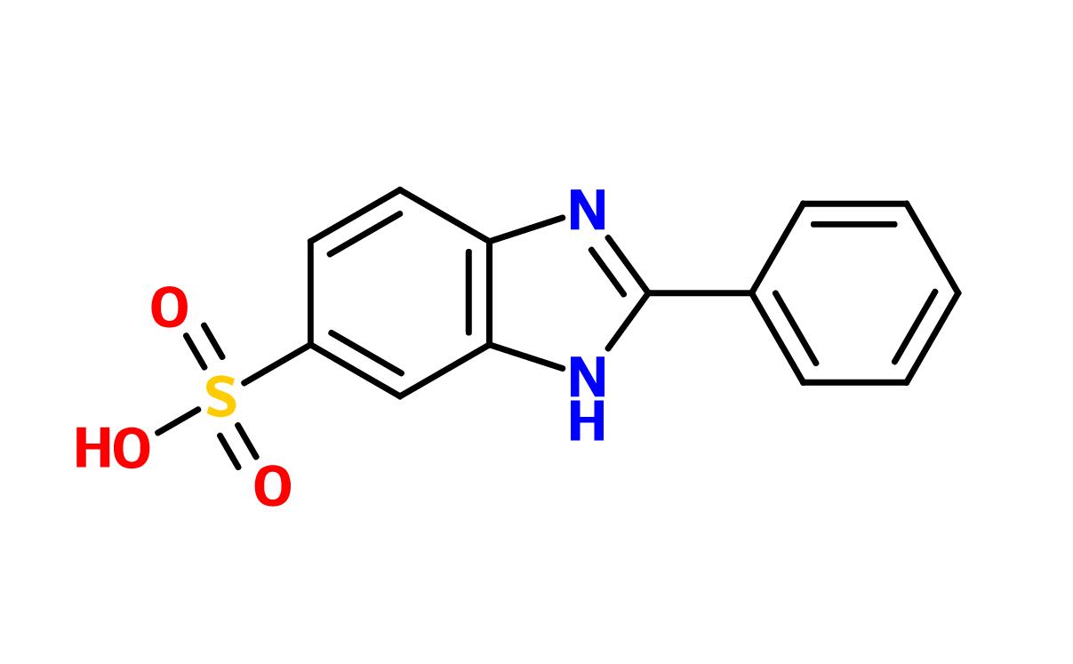 Figure 4. Phenylbenzimidazole sulfonic acid (Ensulizole)