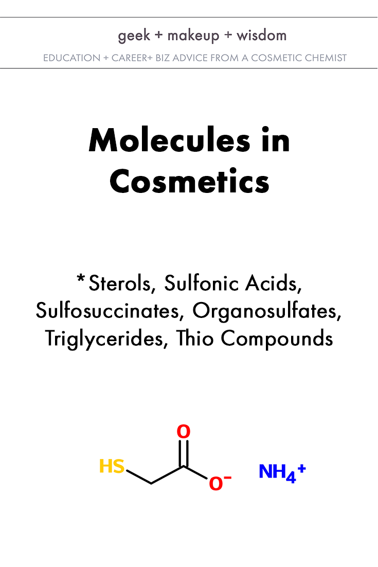 molecules in cosmetics day 5