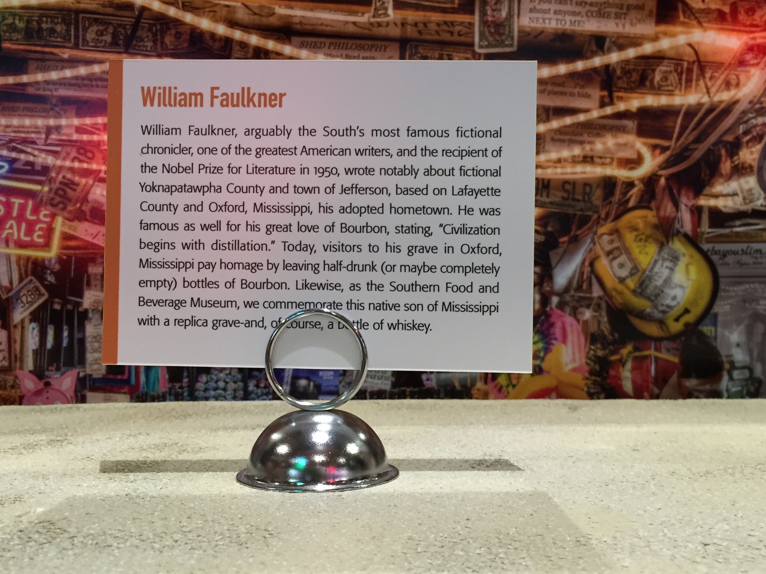 Faulkner Honored At Southern Food and Beverage Museum For Innovative Consumption Habits.