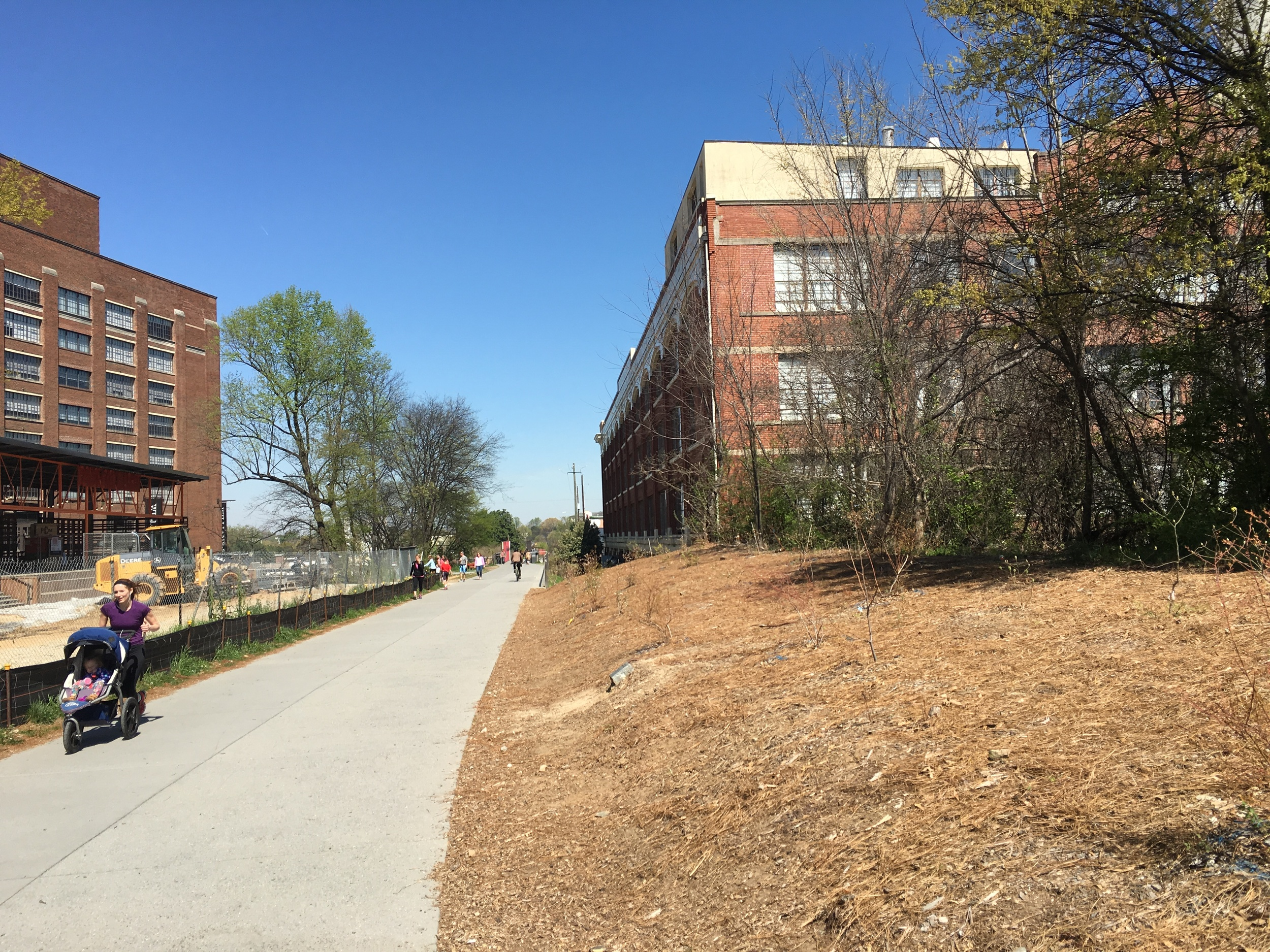 Atlanta Beltline Between Revamped Ford and Sears Buildings | Photo by Bill Boling