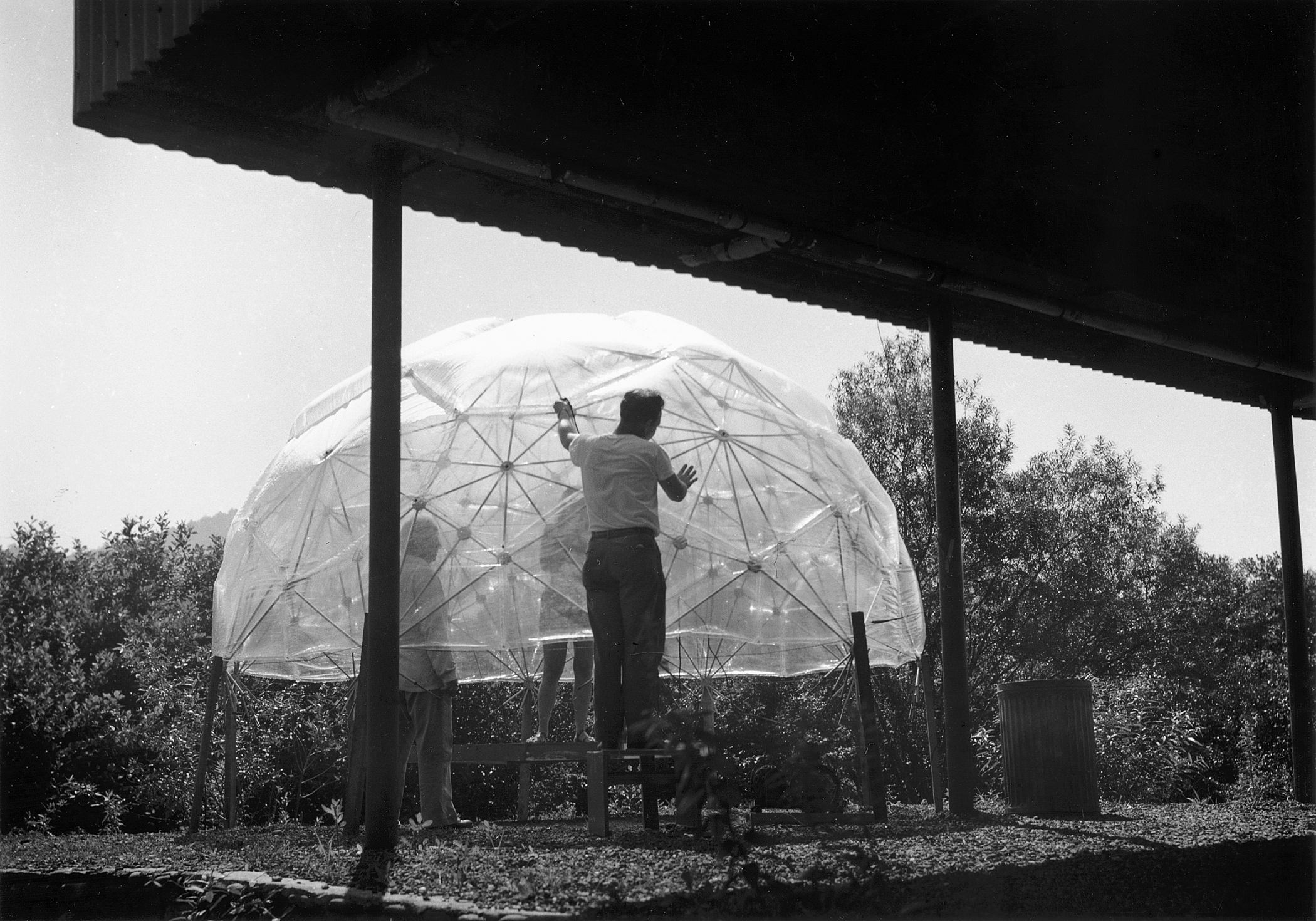 Buckminster Fuller and Students at Black Mountain College, Summer 1949 | Courtesy of Estate of Hazel Larsen Archer and the Black Mountain College Museum + Arts Center, Asheville, NC