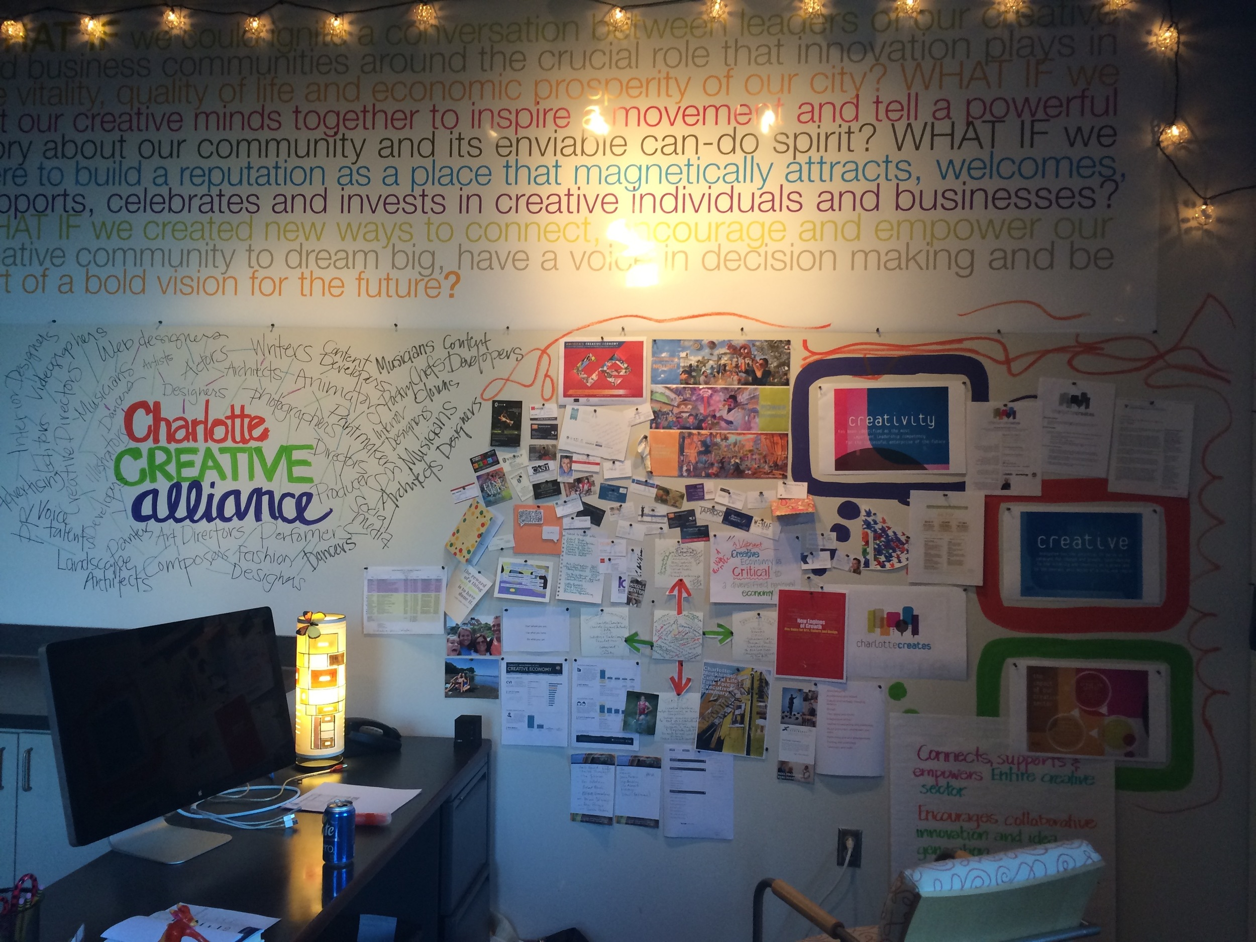 Jennifer Appleby's Studio Wall at McColl Center | Photo courtesy of Jennifer Appleby