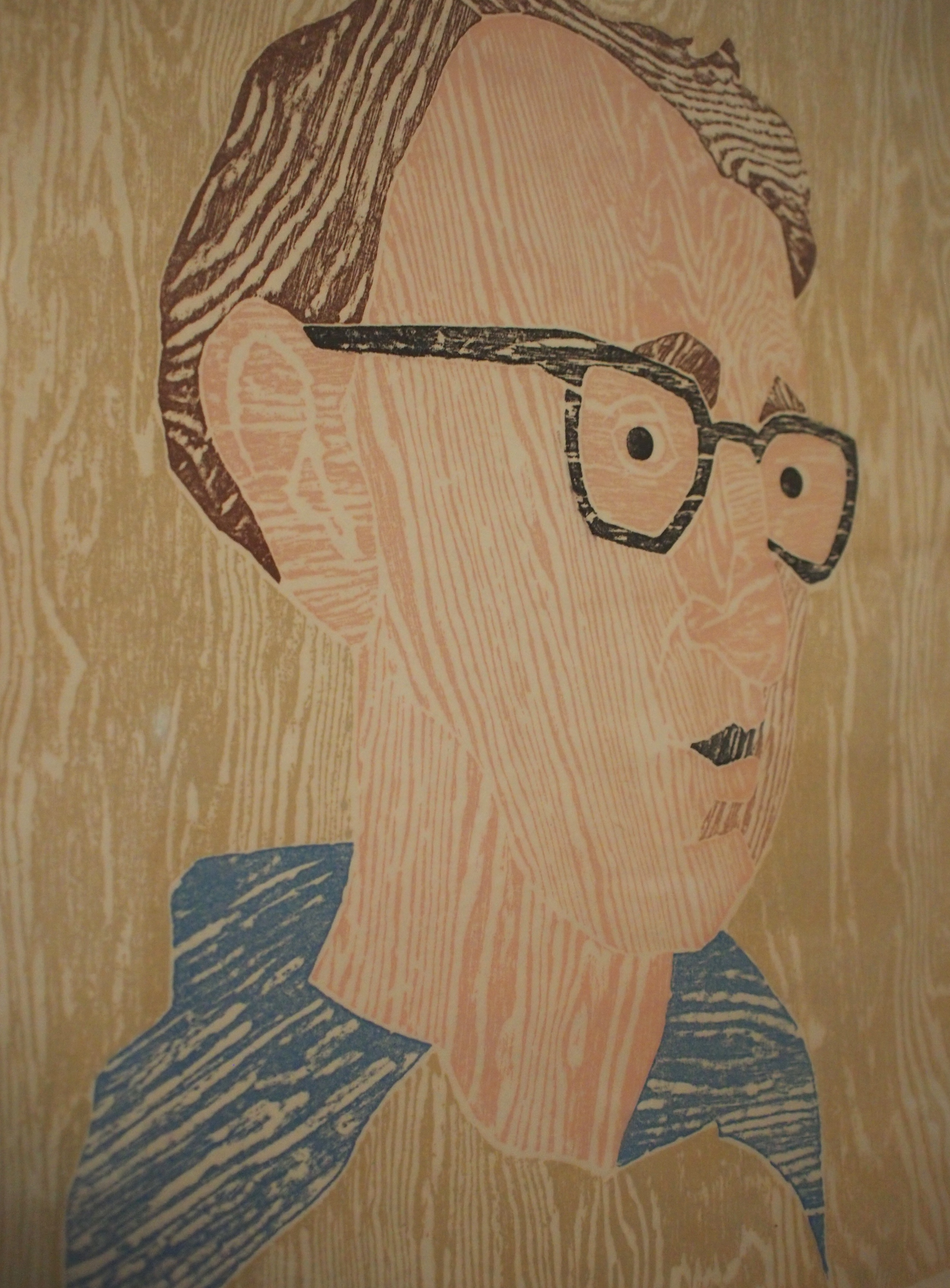 Woody Allen   Woodcut   by Marisol Escobar
