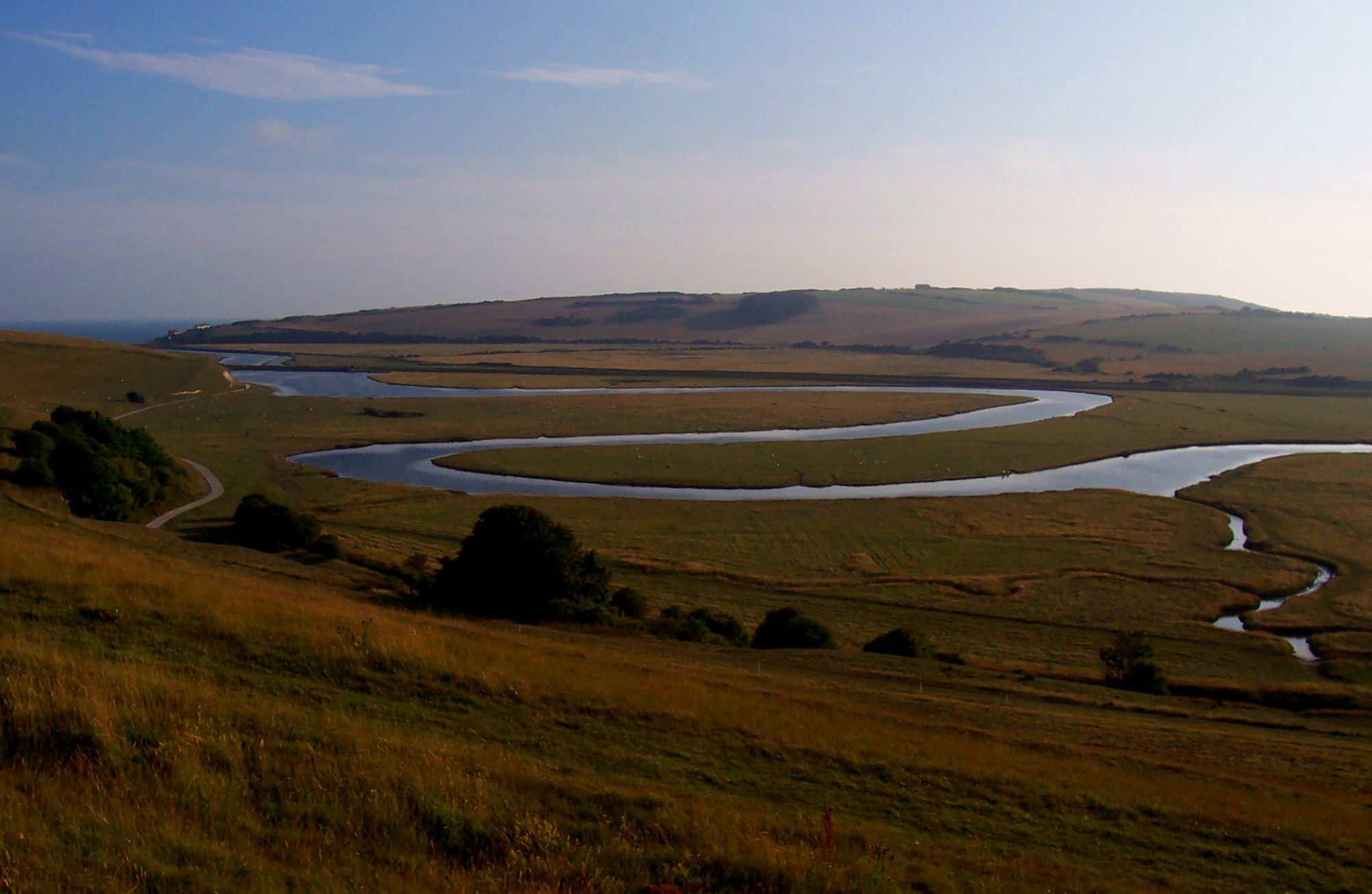 """Cuckmere River Meander"" by Marturius - Own work, CC BY-SA 3.0,  Wikimedia Commons"