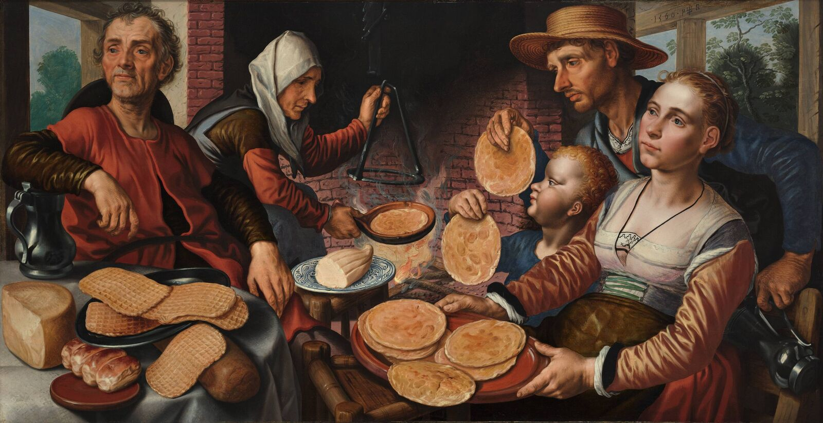 The Pancake Bakery by Pieter Aertsen (circa 1508–1575)