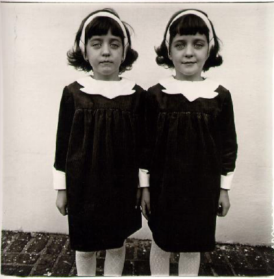Diane Arbus photograph, Identical Twins, Roselle, New Jersey, 1967.