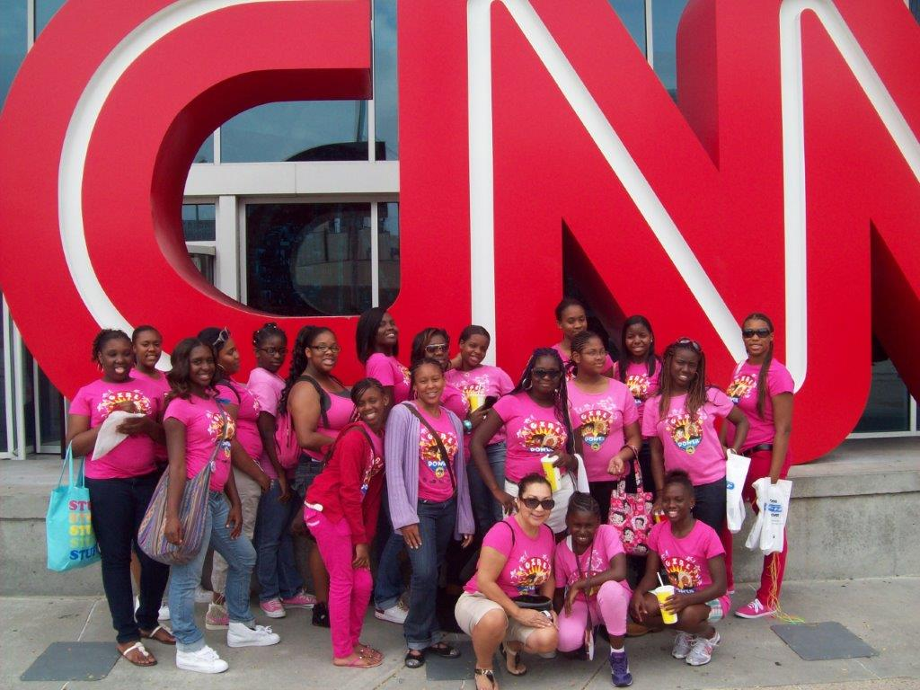 Flask back.  2010 Atlanta College and Heritage Tour in front of CNN .jpg