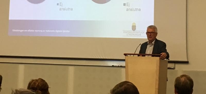 Hans-Eric Holmqvist är regeringens utredare av myndigheternas digitaliseringsarbete.