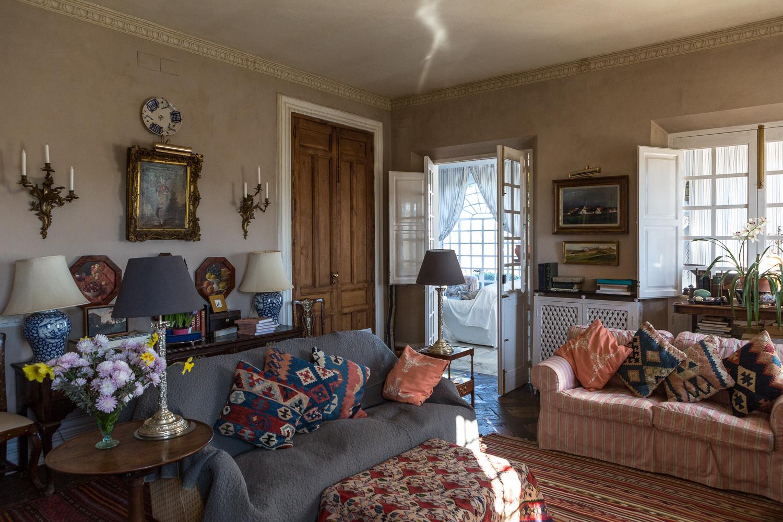The drawing room, Finca Buenvino bed & breakfast near Seville, Spain
