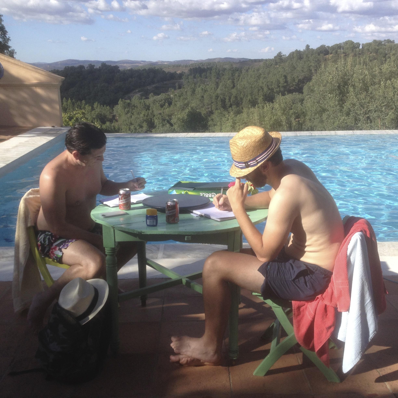 Writing by the pool, write it down writing retreats