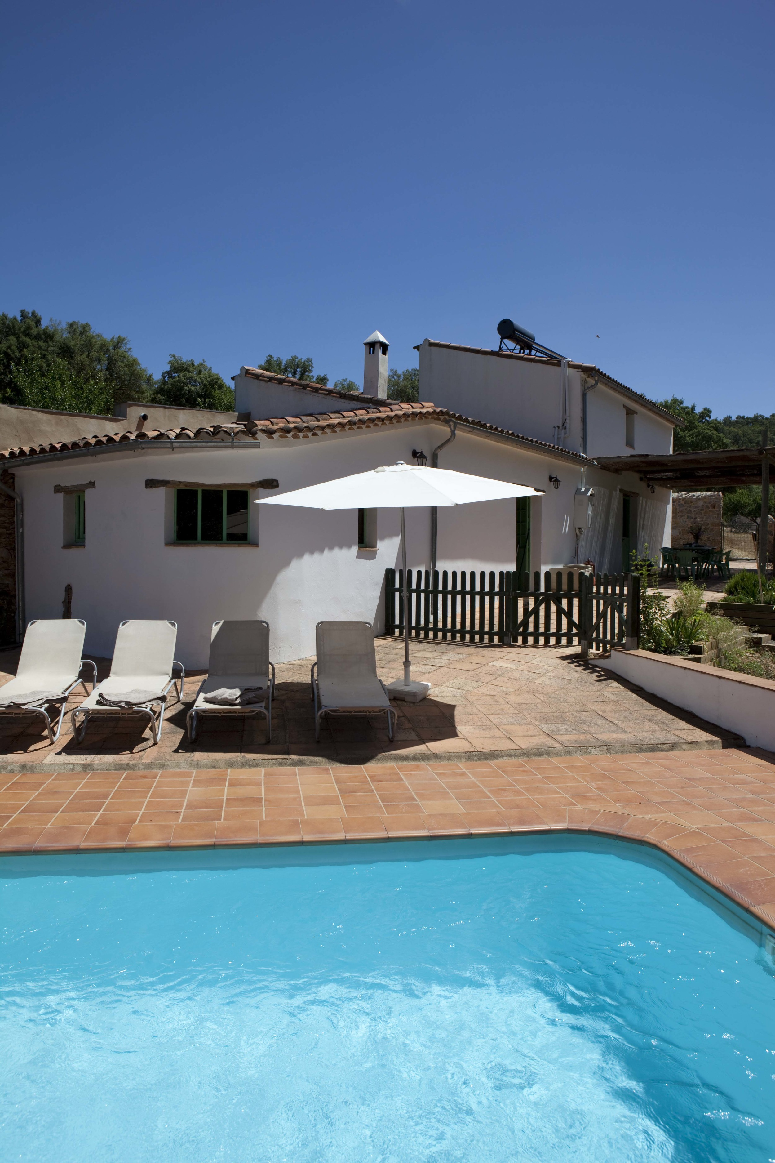The private pool, Casita de Luis self-catering cottage