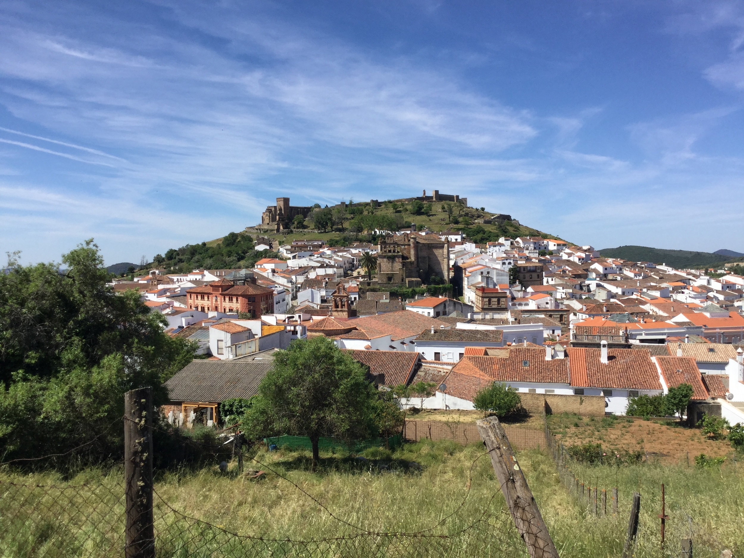 View of Aracena, near Buenvino b&b Andalusia