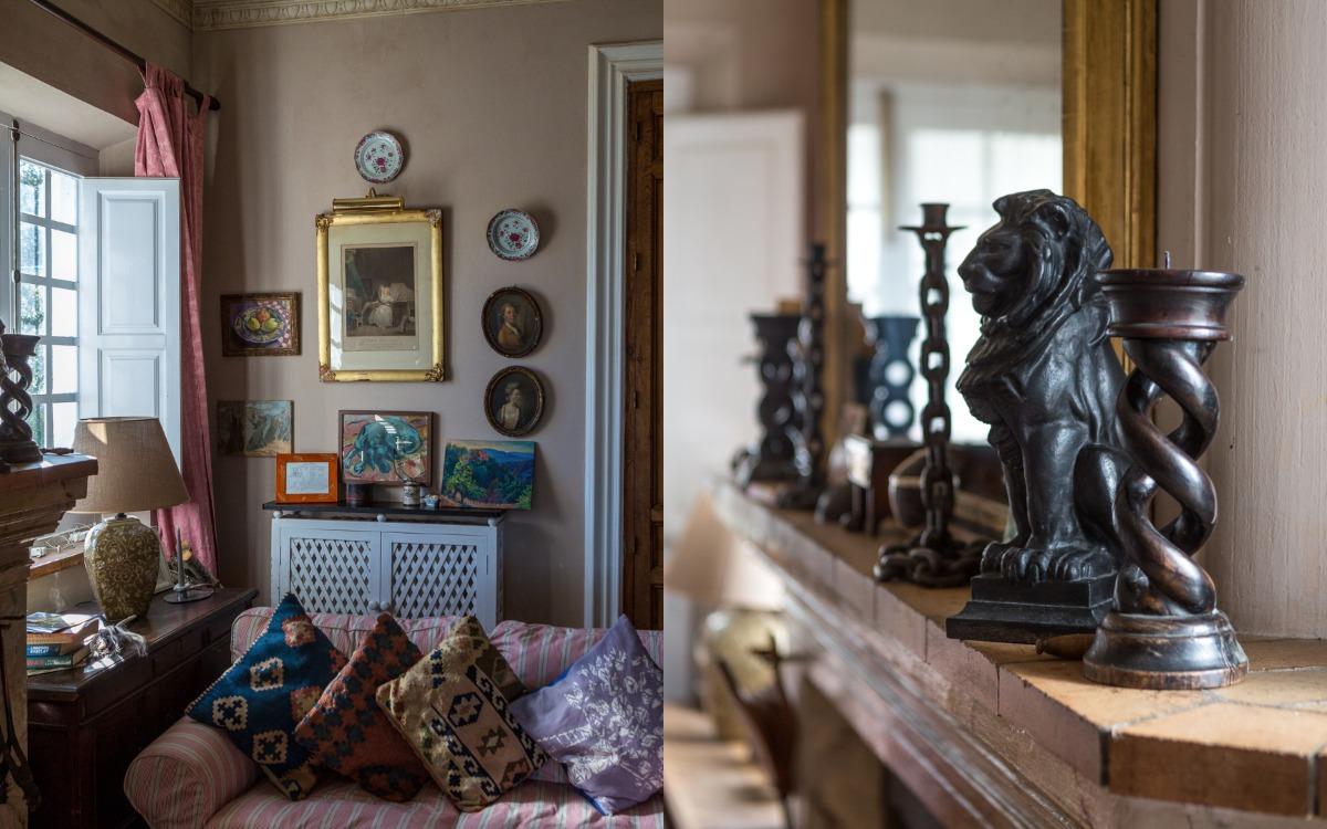 Living room at Finca Buenvino B&B Aracena