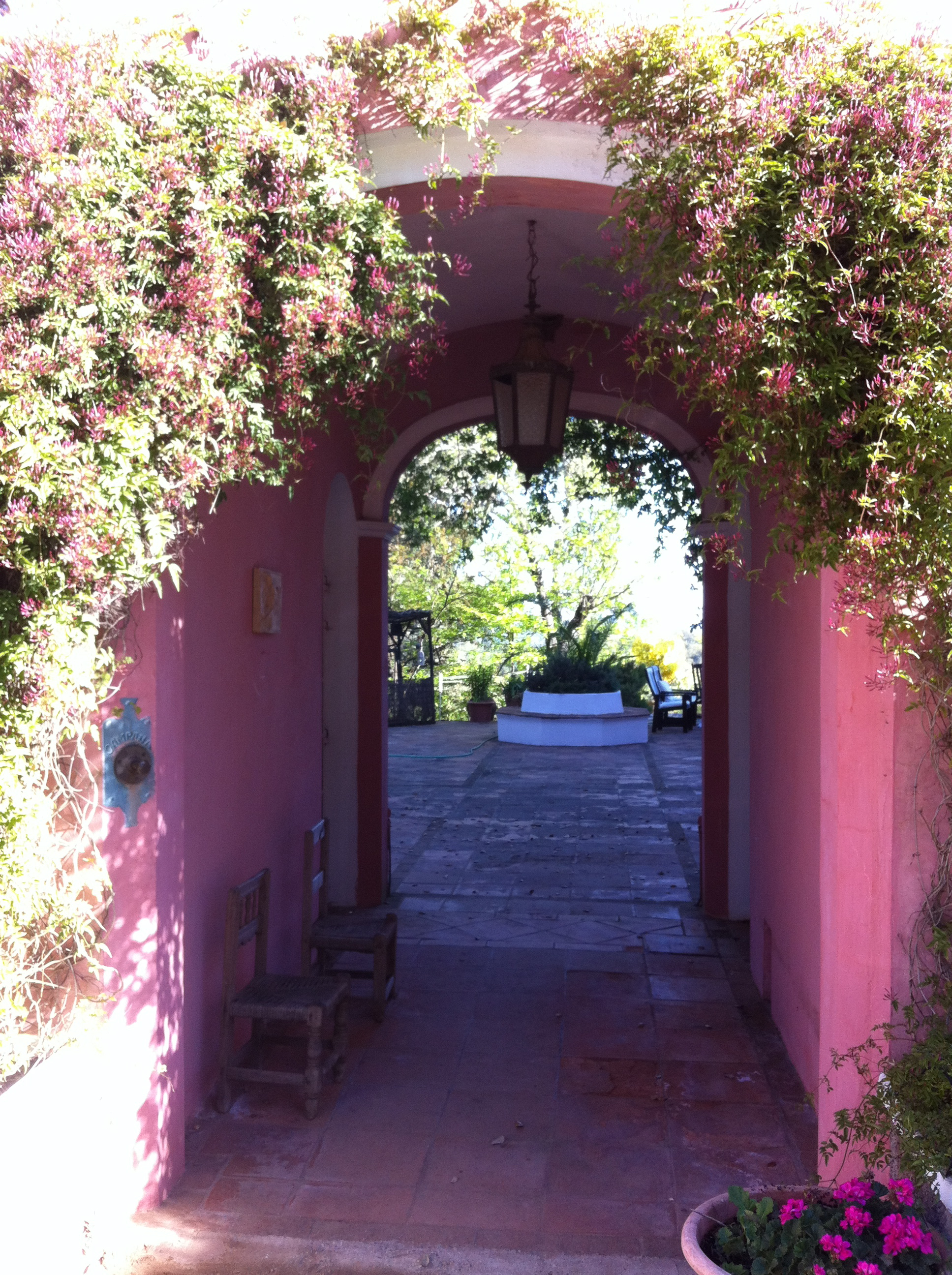 Entrance arch to patio