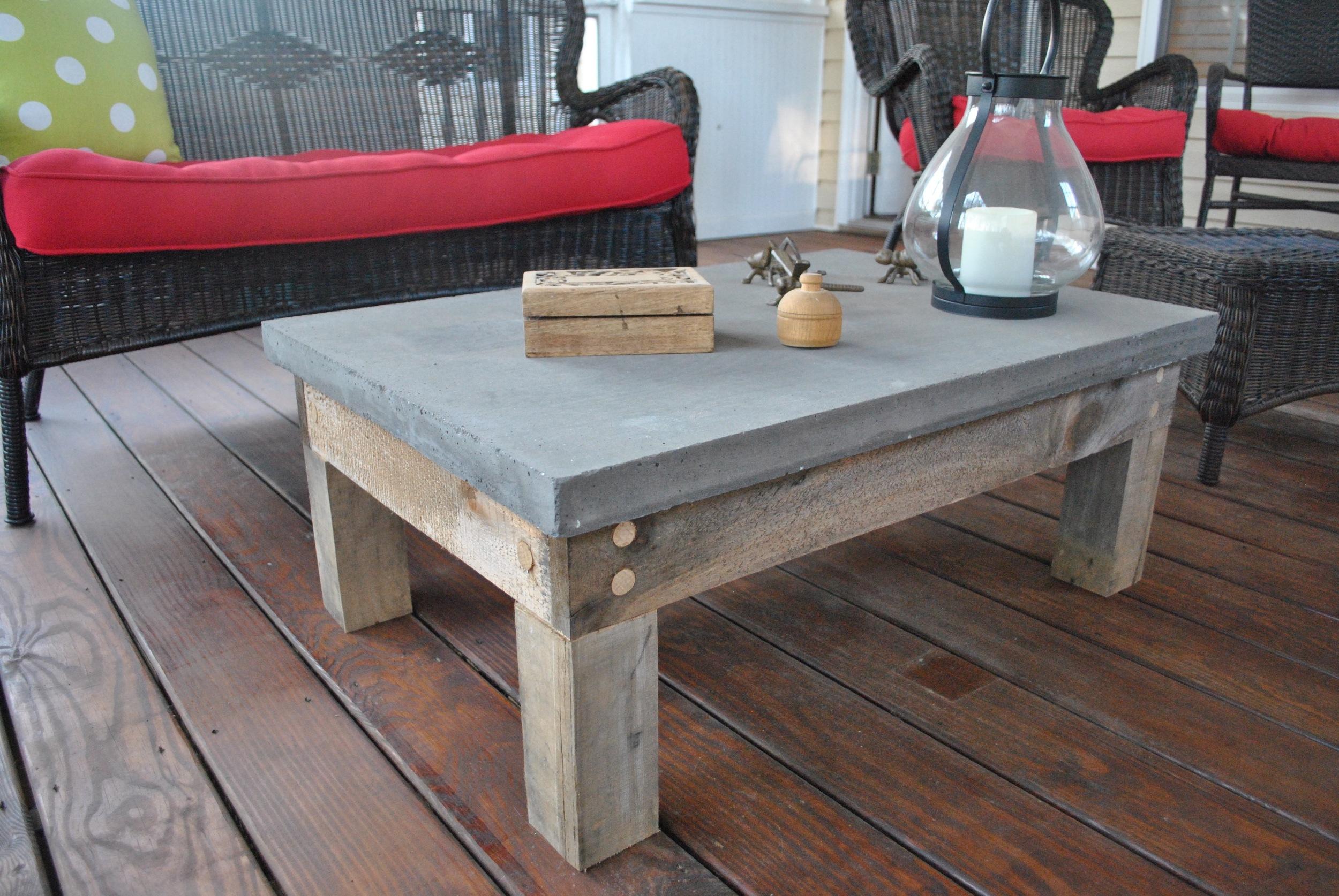 custom table conrete
