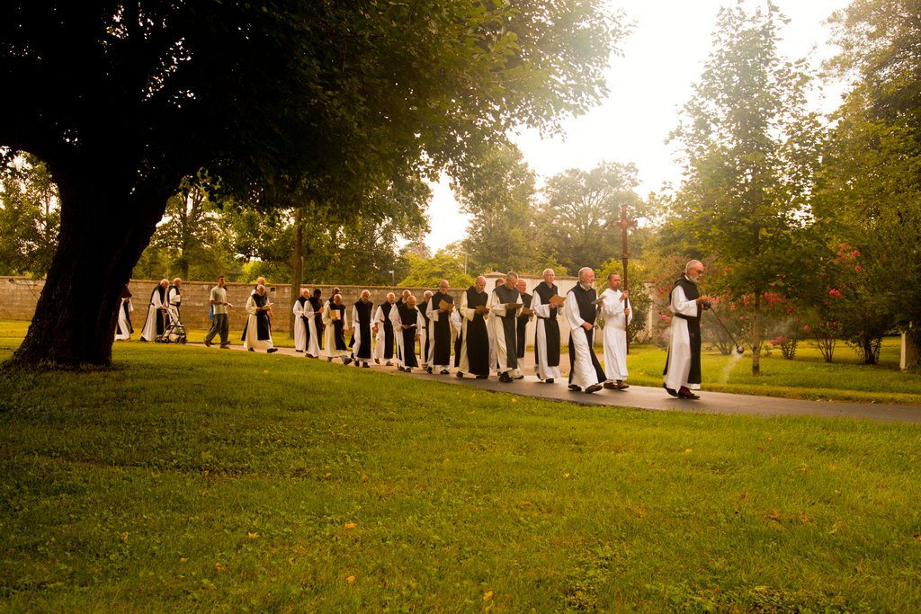 Abbey of Our Lady of Gethsemani Cistercian monks in procession