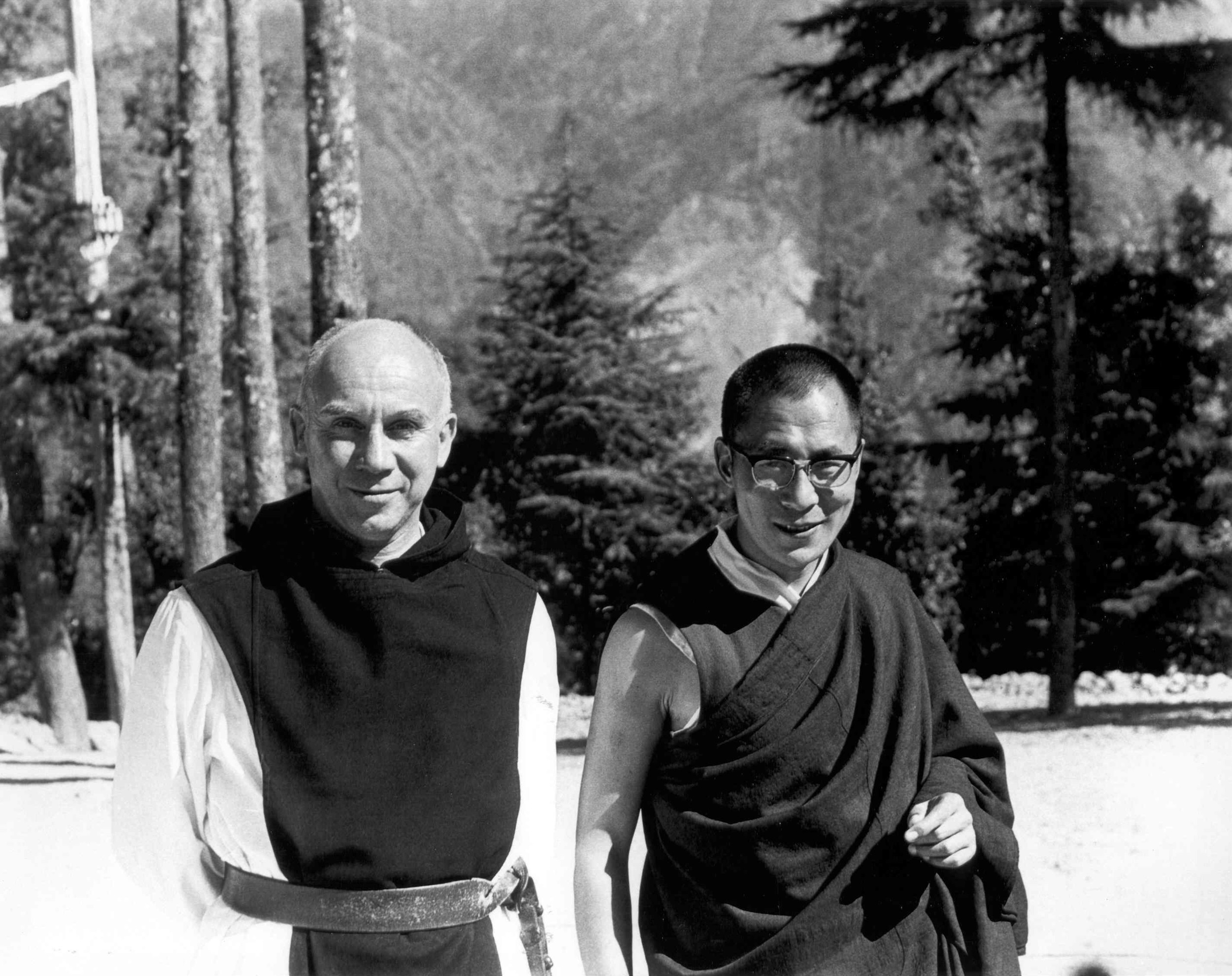 Merton & Dalai Lama. Used with Permission of the Merton Legacy Trust and the Thomas Merton Center.