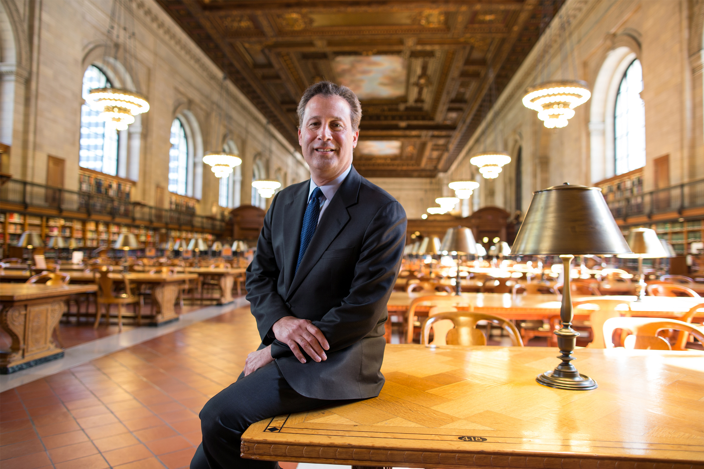 Tony Marx, President and CEO of the New York Public Library (NYPL) in the Rose Main Reading Room of the Stephen A. Schwarzman Building on New York's Fifth Avenue (picture © NYPL).