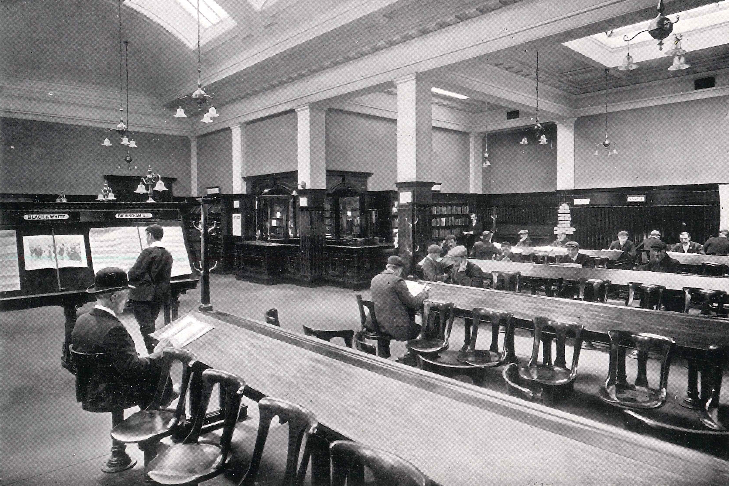 The original Springburn Library, Glasgow (picture © The WS Society).