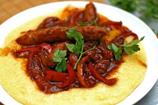Pork Sausage and Polenta
