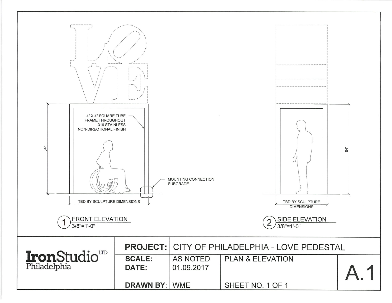 A schematic for LOVE's new base. Courtesy: Philadelphia Art Commission