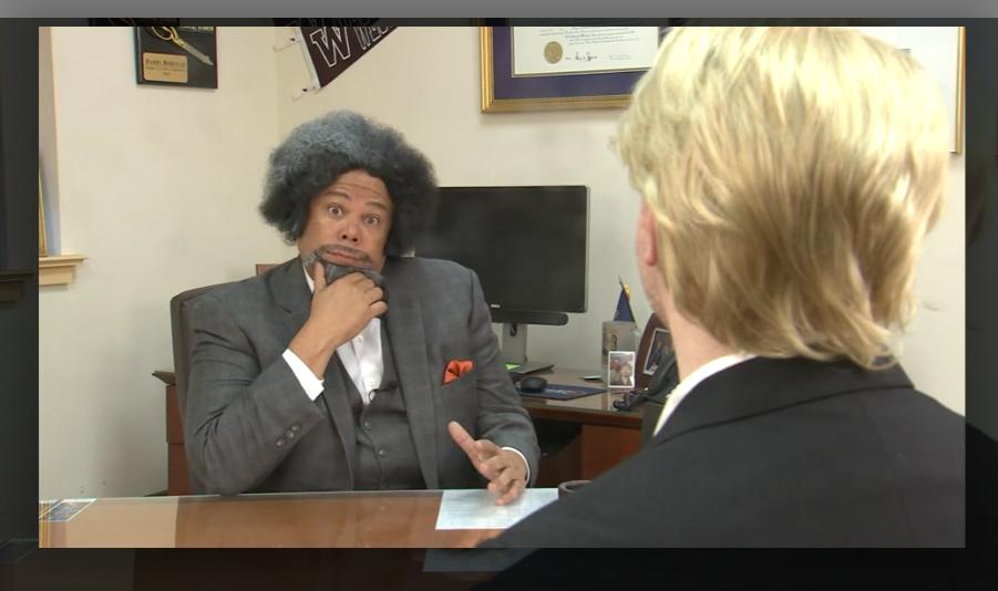 Anthony Williams as Frederick Douglass.