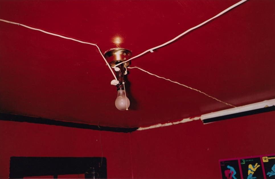 Greenwood, Mississippi aka The Red Ceiling, William Eggleston, 1973-74, dye transfer print. Philadelphia Museum of Art, 125th Anniversary Acquisition. Gift of Walter Hopps and Caroline Huber, 2001.